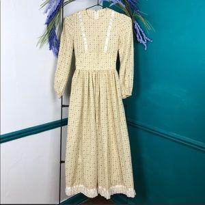 Gunne Sax  vintage floral Prairie dress. Girls